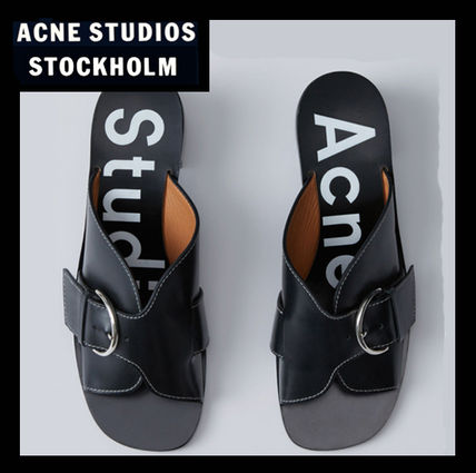 Sale Acne leather buckle sandals