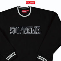 Lサイズ Supreme(シュプリーム)FELT SHADOW CREWNECK/ BLACK