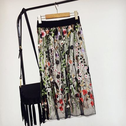 Flower embroidered skirt trend pretty made popular