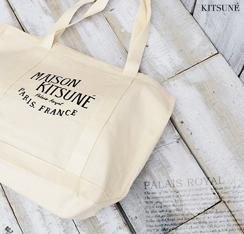 MAISON KITSUNE キャンバス トート Shopping Bag PALAIS ROYAL