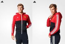 ADIDAS☆M'S ATHLETICS★Manchester-United 3Stripes Hoodie Zip