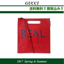 2017SS関税込★GUCCI(グッチ) GucciGhost leather tote,red