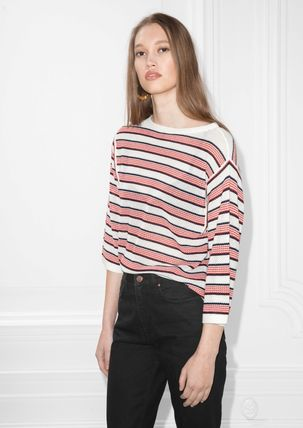 & Other Stories Striped Oversized Top