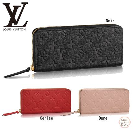 Louis Vuitton PORTEFEUILLE CLEMENCE * zip round long wallet