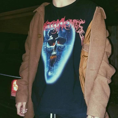 VETEMENT公認パロディー[VETEMEMES] SKULL BAND TEE