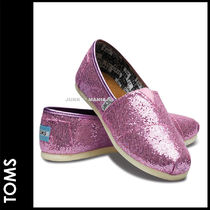 TOMS(トムス) キッズシューズ・靴その他 ■SALE★3-7日着/追跡付【即発・TOMS】Youth Lilac Toms Glitter