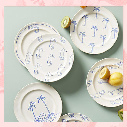 Super cute illustrations of design dish plate