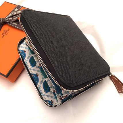 """HERMES 折りたたみ財布 HERMES 2017""""TATERSALE""""Portefeuille COMPACT Silk'in/NOIR(2)"""