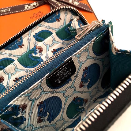 """HERMES 折りたたみ財布 HERMES 2017""""TATERSALE""""Portefeuille COMPACT Silk'in/NOIR(5)"""