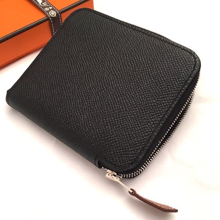 """HERMES 折りたたみ財布 HERMES 2017""""TATERSALE""""Portefeuille COMPACT Silk'in/NOIR(8)"""
