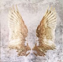 Oliver Gal★My Golden Wings★キャンバスアート 109cm x 109cm