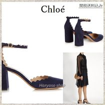 【国内発送】Chloe★Lauren scallop-edged block-heel sandals