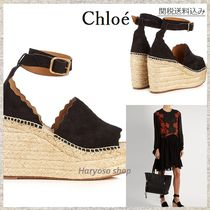 【国内発送】Chloe★Lauren suede espadrille wedge sandals