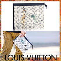 LOUIS VUITTON★ Pochette Voyage GM クラッチ サバンナ柄 白