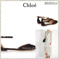 【国内発送】Chloe★Lauren scallop-edged suede flats