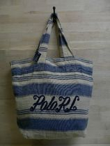 POLO RALPHLAUREN TOTE BAG ラルフ リネン トートバッグ (8198)