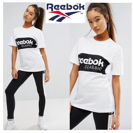 Reebok Classics logo with over sized T shirt White