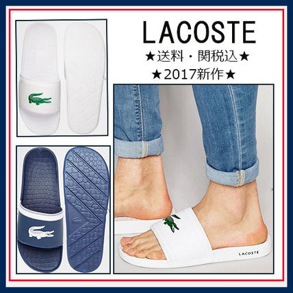 sold out inevitable LACOSTE logo with sandals