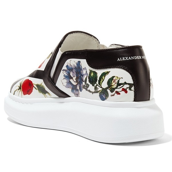 ☆17CRUISE☆ Alexander McQueen Floral-print slip-on sneakers