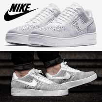 【NIKE】NIKE AIR FORCE 1 FLYKNIT LOW★クールグレー/ホワイト