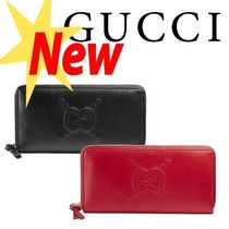 【日本未入荷!!】★17SS★GUCCI Embossed zip around wallet ★