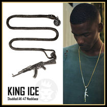King Ice★Studded AK-47 Necklace★Gold/Black★送料税込/国内