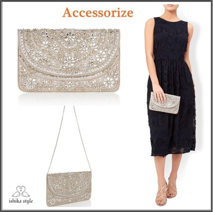 Accessorize flower embroidered clutch bag