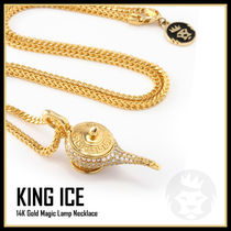 【King Ice】14K Gold Magic Lamp Necklace★送料税込/国内発送