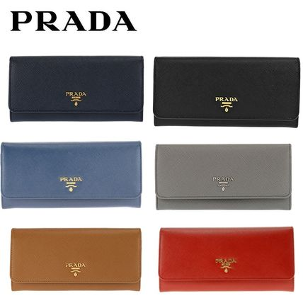 PRADA the purse with SAFFIANO METAL Ribbon long wallet