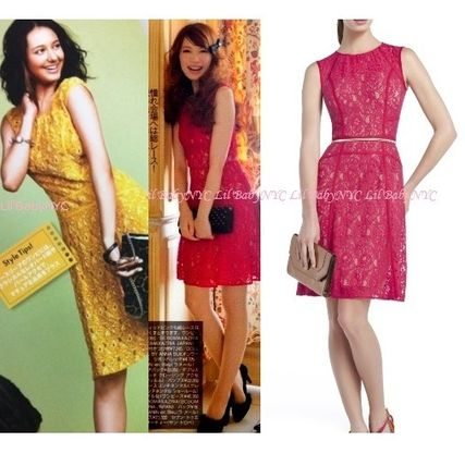 Bright colors and silhouettes BCBGMAXAZRIA lace freadress