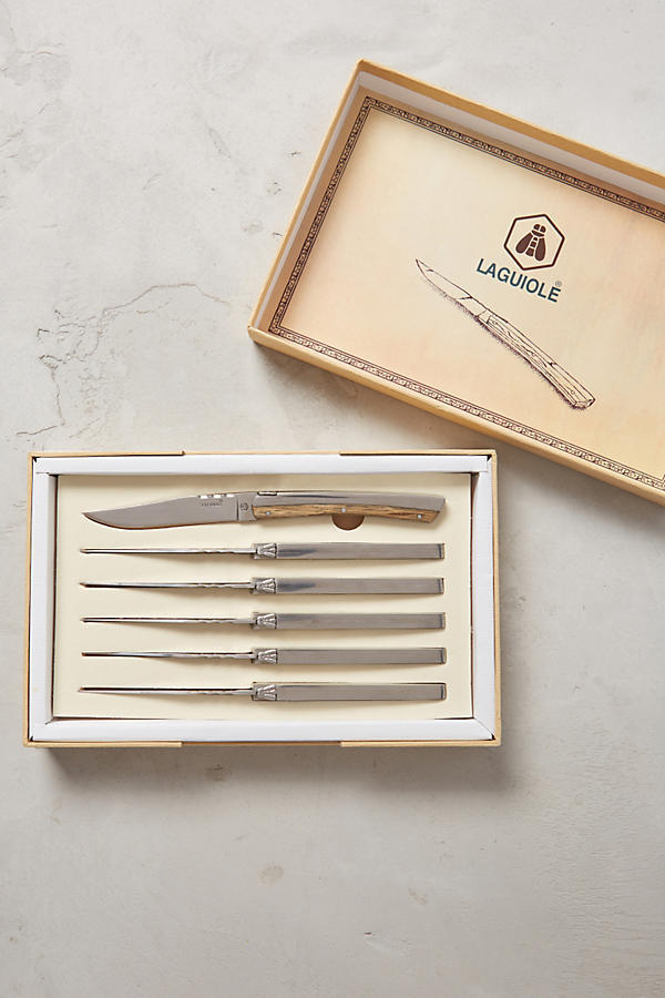 ラス1即納☆最終SALE【Anthro】Laguiole Wooden Steak Knives