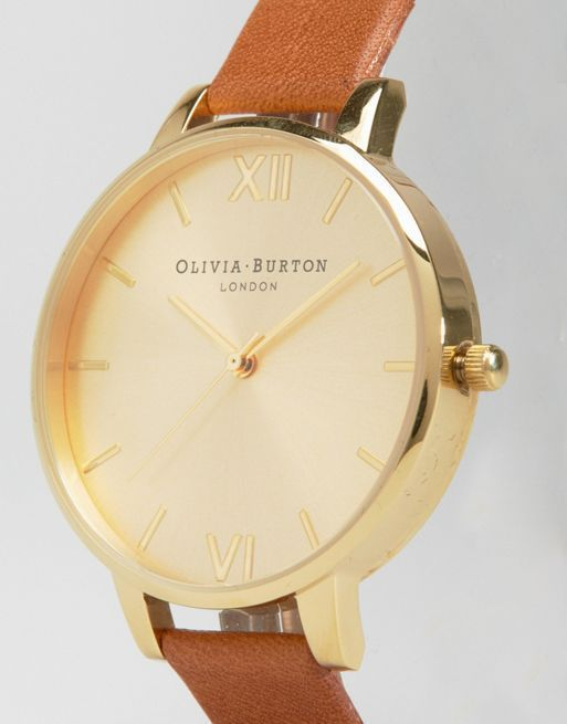 【関税・送料込】Big Dial Tan Watch Olivia Burton ウォッチ