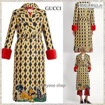 【国内発送】GUCCI★RUNWAY Geometric wool-blend coat