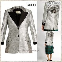 【国内発送】GUCCI★Floral-brocade single-breasted blazer