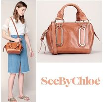 17SSパリ発【See By Chloe】PAIGEストラップ付スモールバッグ 茶
