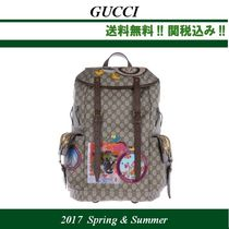 2017SS関税込★GUCCI(グッチ)GG Supreme 装飾つきbackpack
