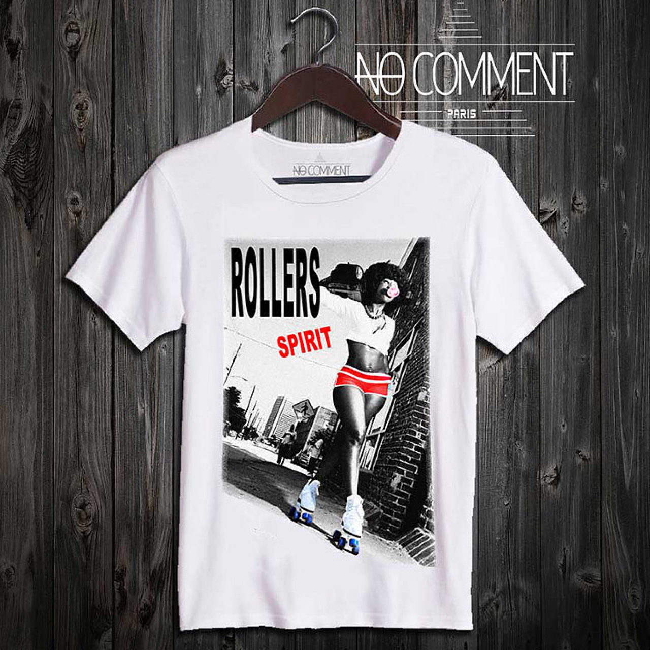 ●関税/送料込み● NO COMMENT PARIS *Roller Spirit Tシャツ*