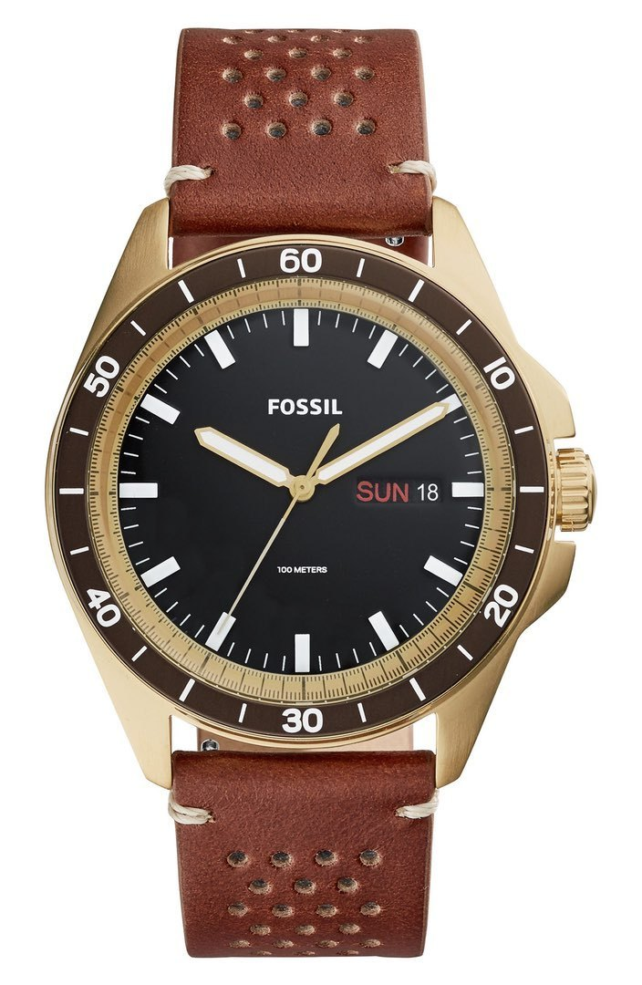 NEW!!Fossil★Sport 54 Leather★メンズ腕時計