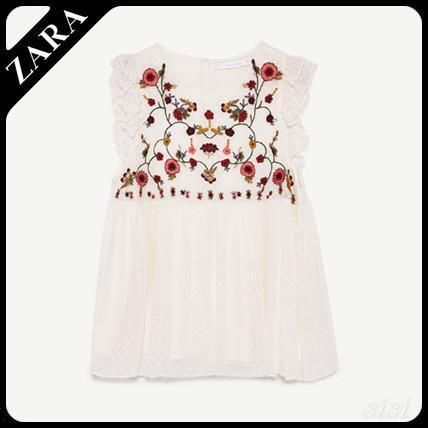 ZARA TRF embroidery with tops