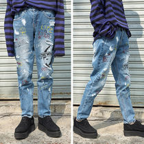 ☆OPEN THE DOOR☆17ss painting denim pants (S / M / L)