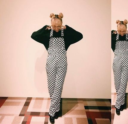 UNIF plaid overalls Aoyama Thelma's