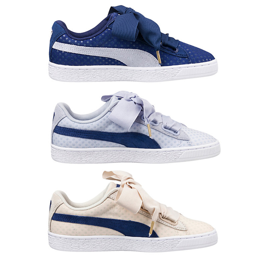 リボン BASKET HEART DENIM WOMEN'S SNEAKERS