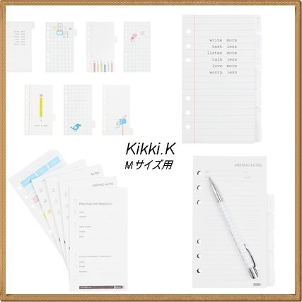Kikki.K Letters for personal planner refill/m size