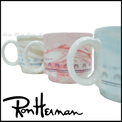 Ron Herman logo with marble mug Cup 2 pieces SET