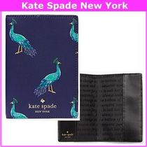 17SS★Kate Spade★クジャク パスポート/母子手帳ケース