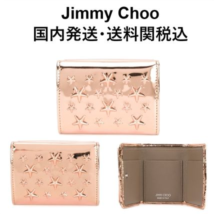 Jimmy Choo three bifold wallet pink