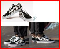 HOT☆VANS★OLD SKOOL CHECKERBOARD BLACK/ESPRESSO 22~28cm