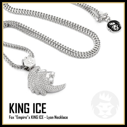 King Ice ネックレス・チョーカー 【King Ice】The Lyon Necklace★White Gold★送料税込/国内発送