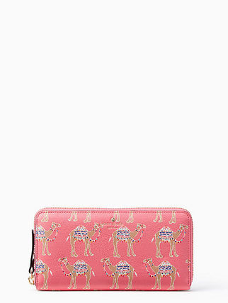 Kate Spade SPICE THINGS UP CAMEL MARCH LACEY 長財布