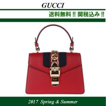 2017SS関税込★GUCCI(グッチ)Sylvie leather mini bag,red